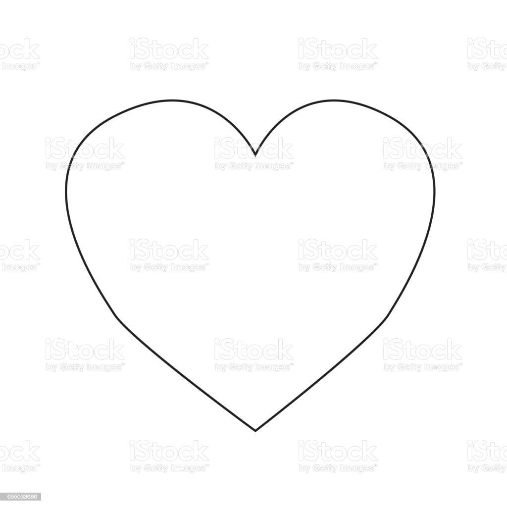 Heart icon vector illustration vector art illustration