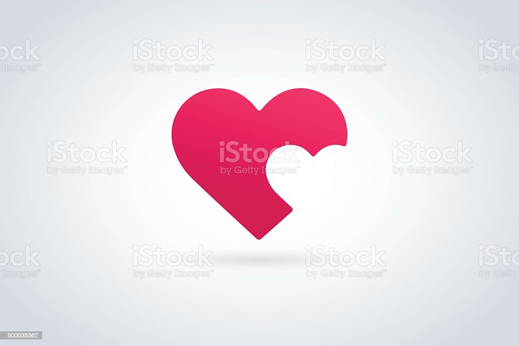 Heart icon vector vector art illustration