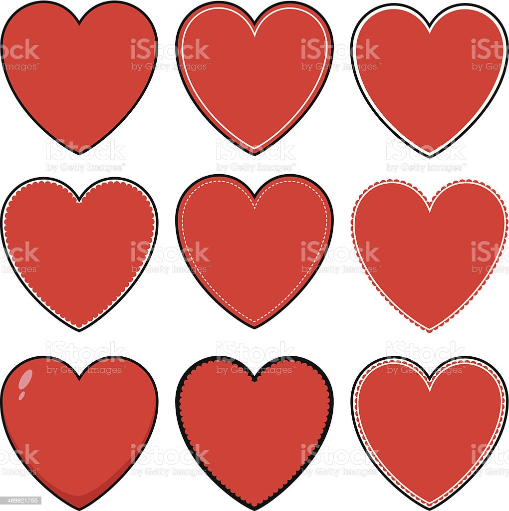 Heart Icons and Symbols royalty-free stock vector art
