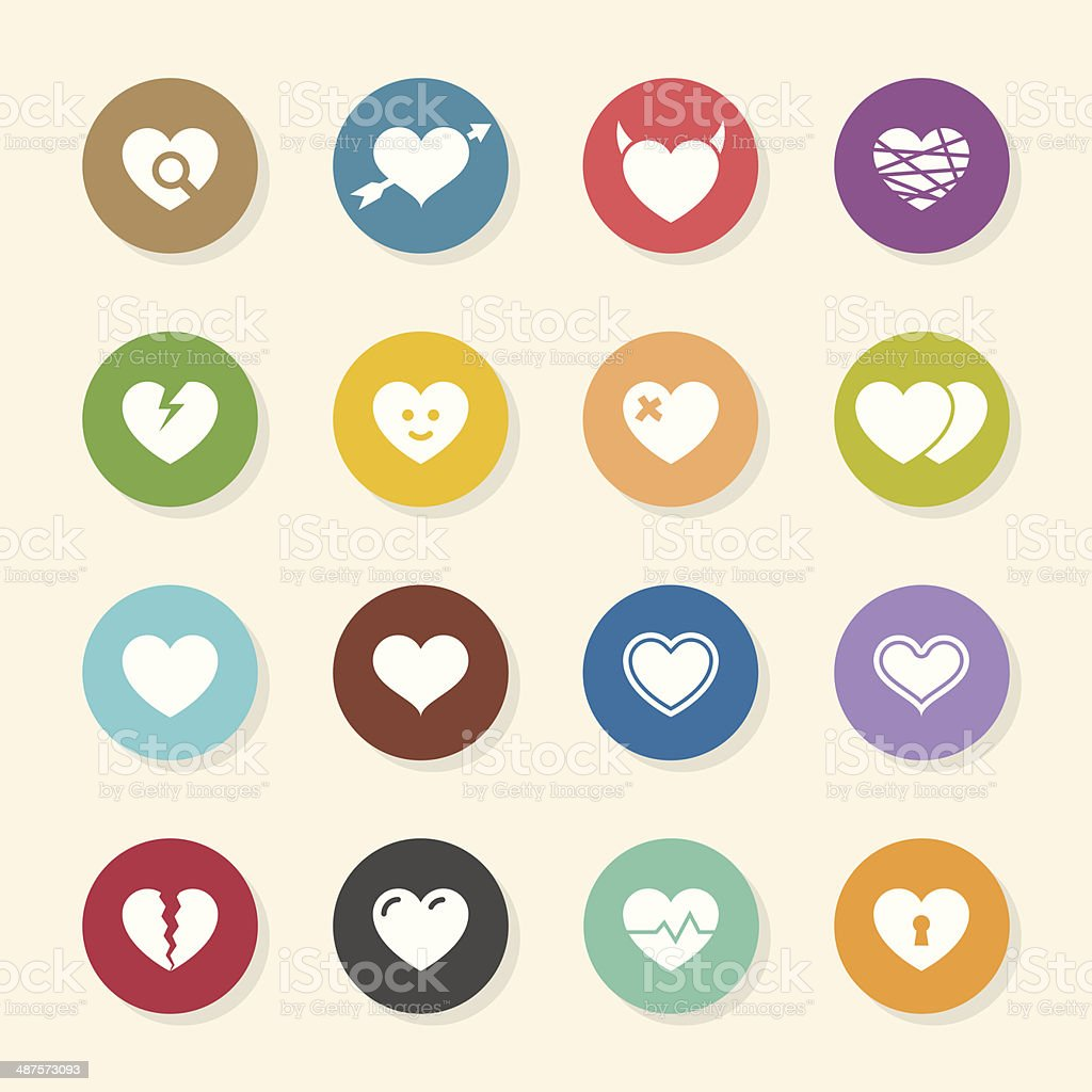Heart Icons - Color Circle Series royalty-free stock vector art