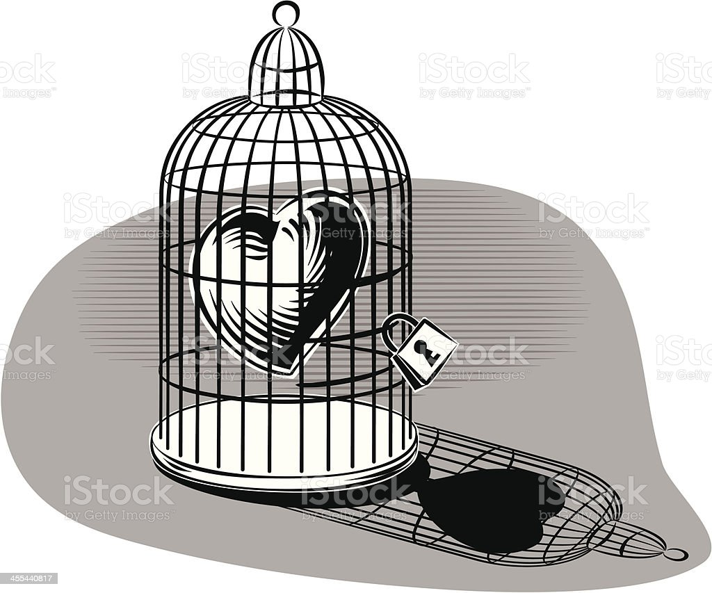 Heart in a cage royalty-free stock vector art