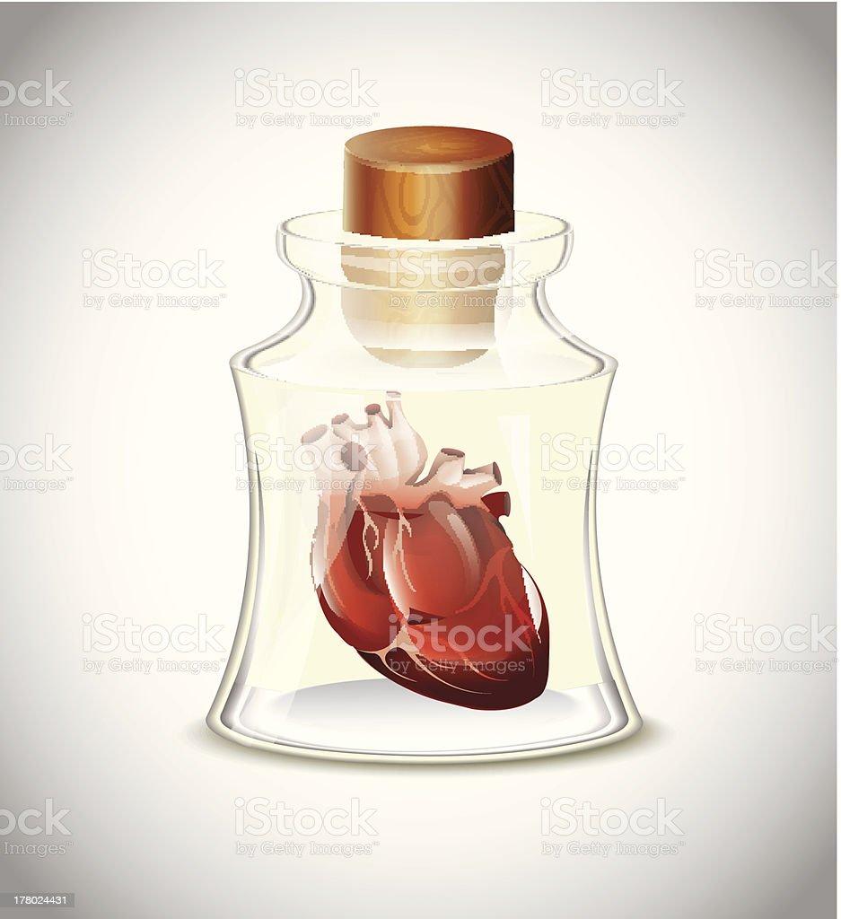Heart In Bottle royalty-free stock vector art