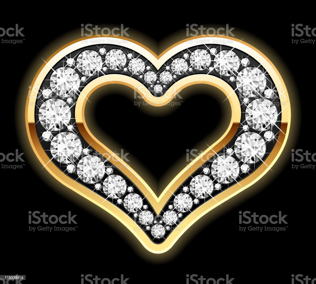 Heart in diamonds royalty-free stock vector art