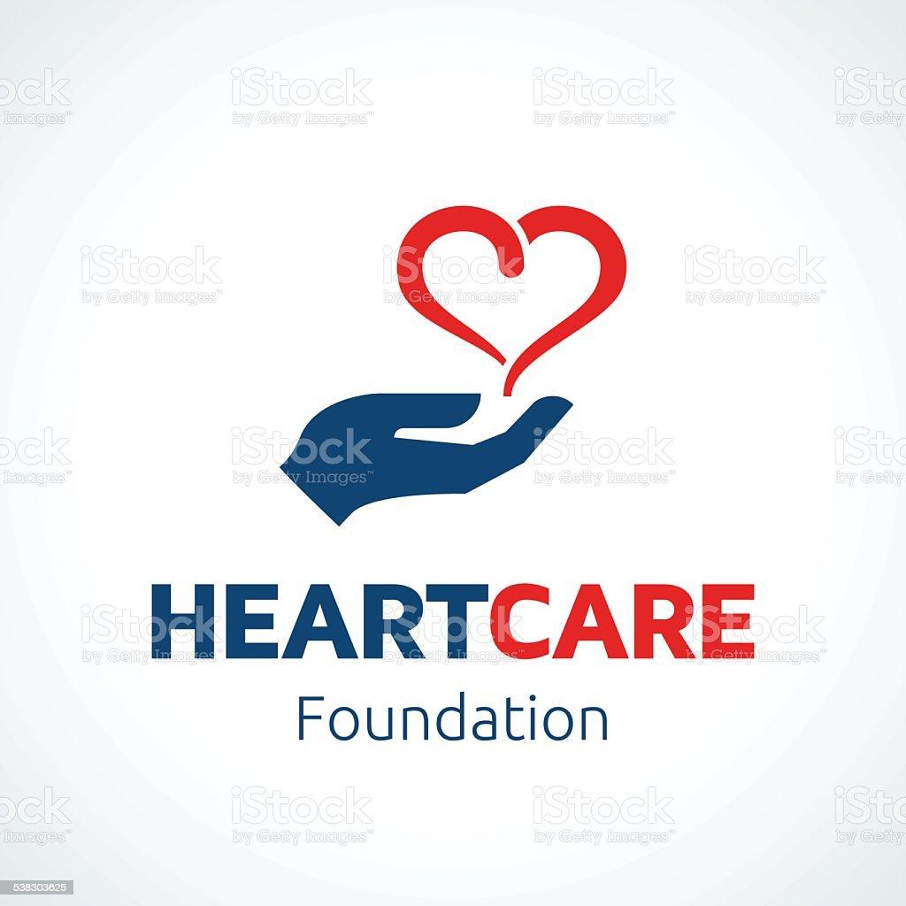 Heart in Hand vector art illustration