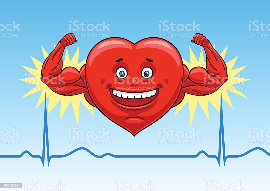 Heart in perfect condition. vector art illustration