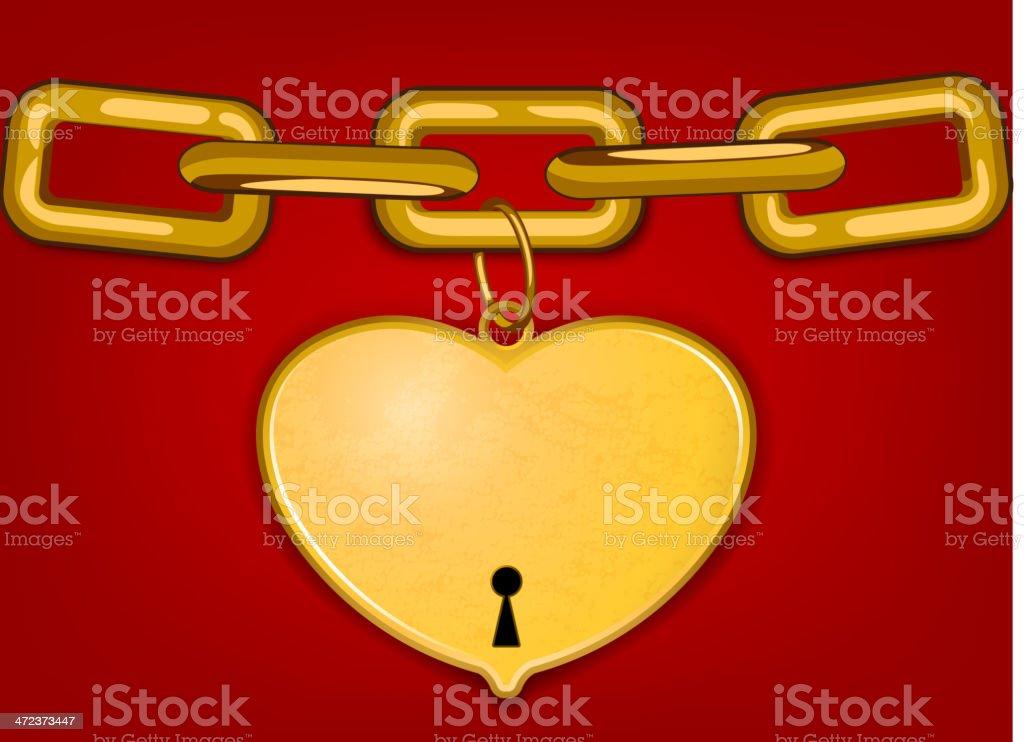 Heart key royalty-free stock vector art