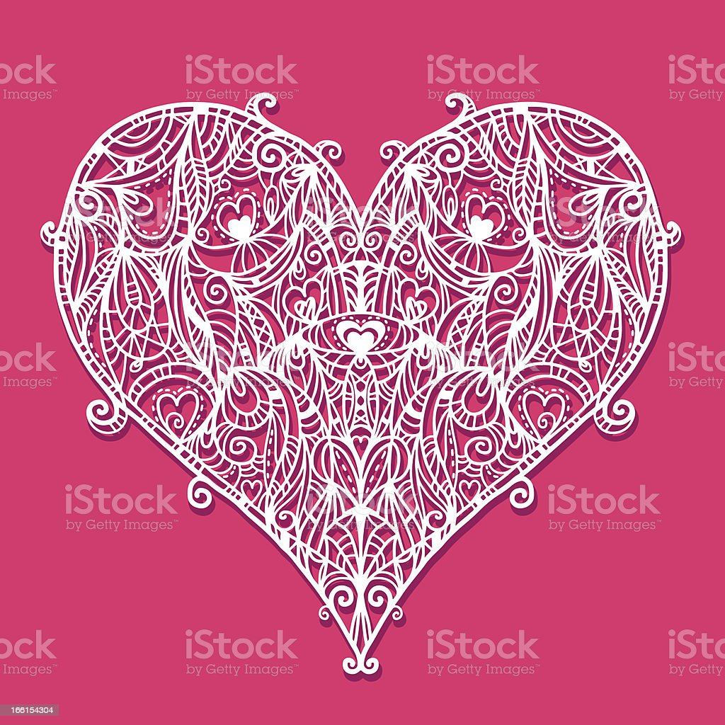 Heart lace royalty-free stock vector art