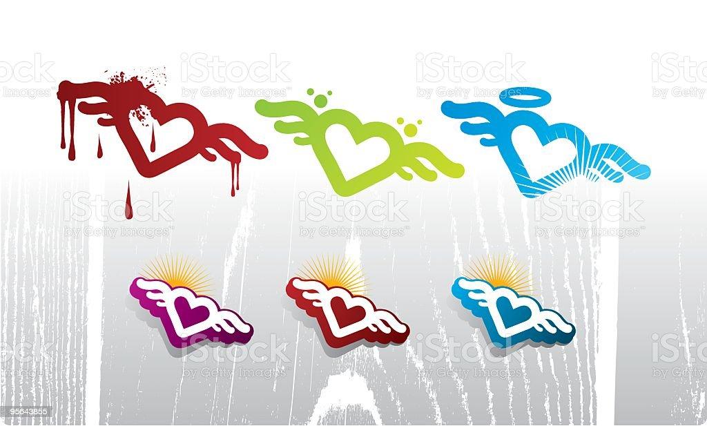 heart logo set royalty-free stock vector art