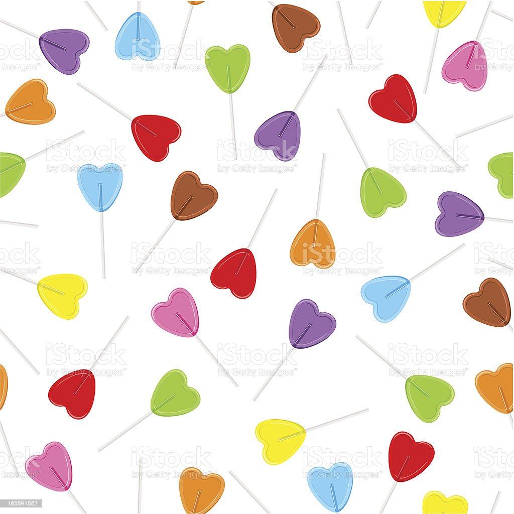 Heart lollypop pattern / love royalty-free stock vector art