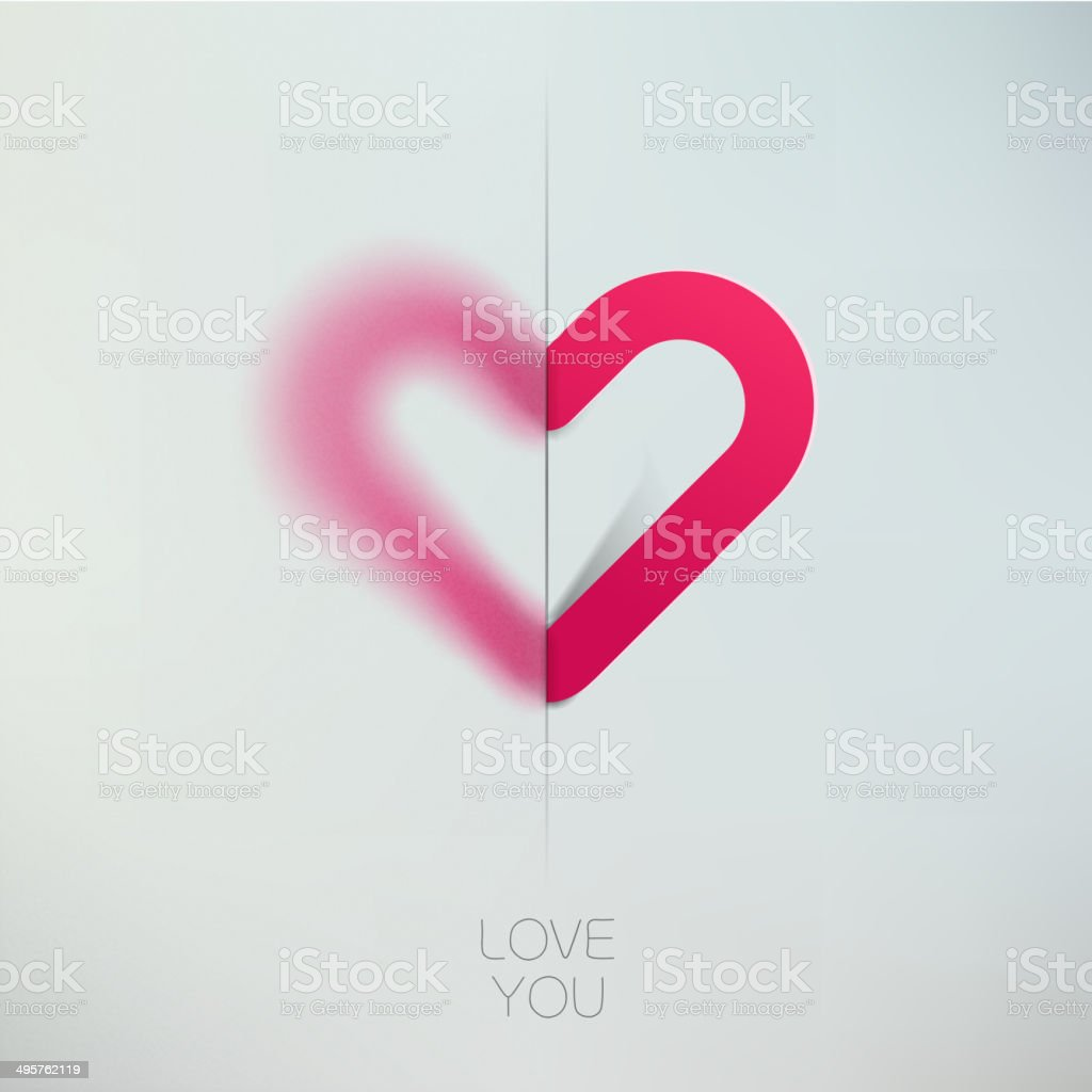 Heart love symbol design template. Happy Valentines day concept icon. vector art illustration
