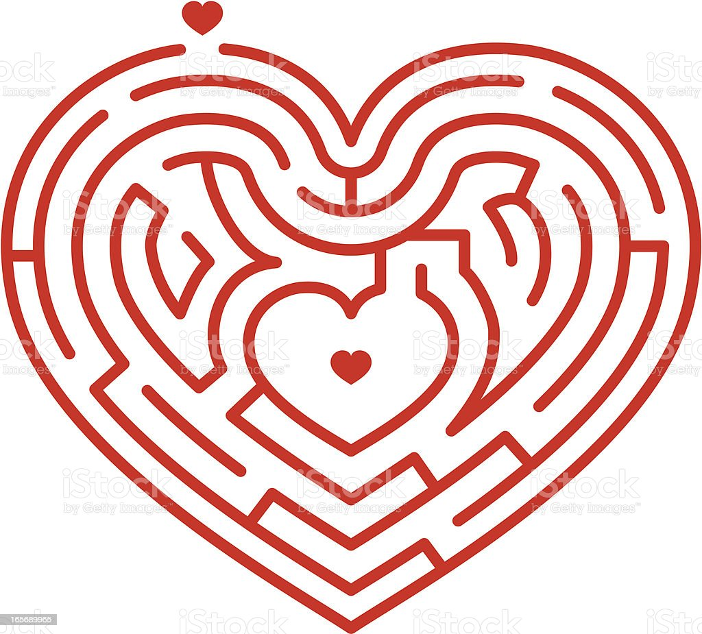 Heart Maze royalty-free stock vector art