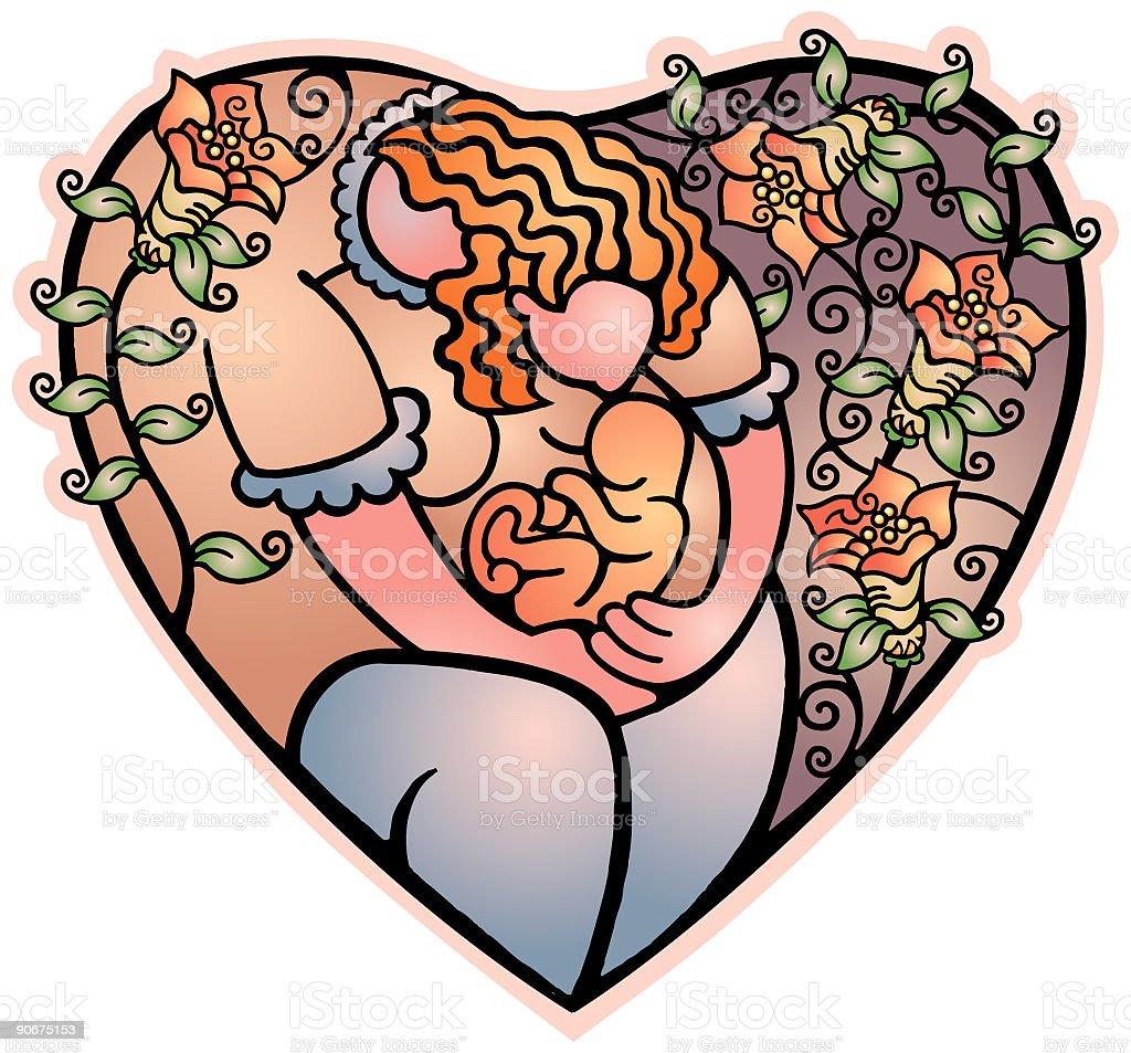 Heart - Mother (vector) royalty-free stock vector art