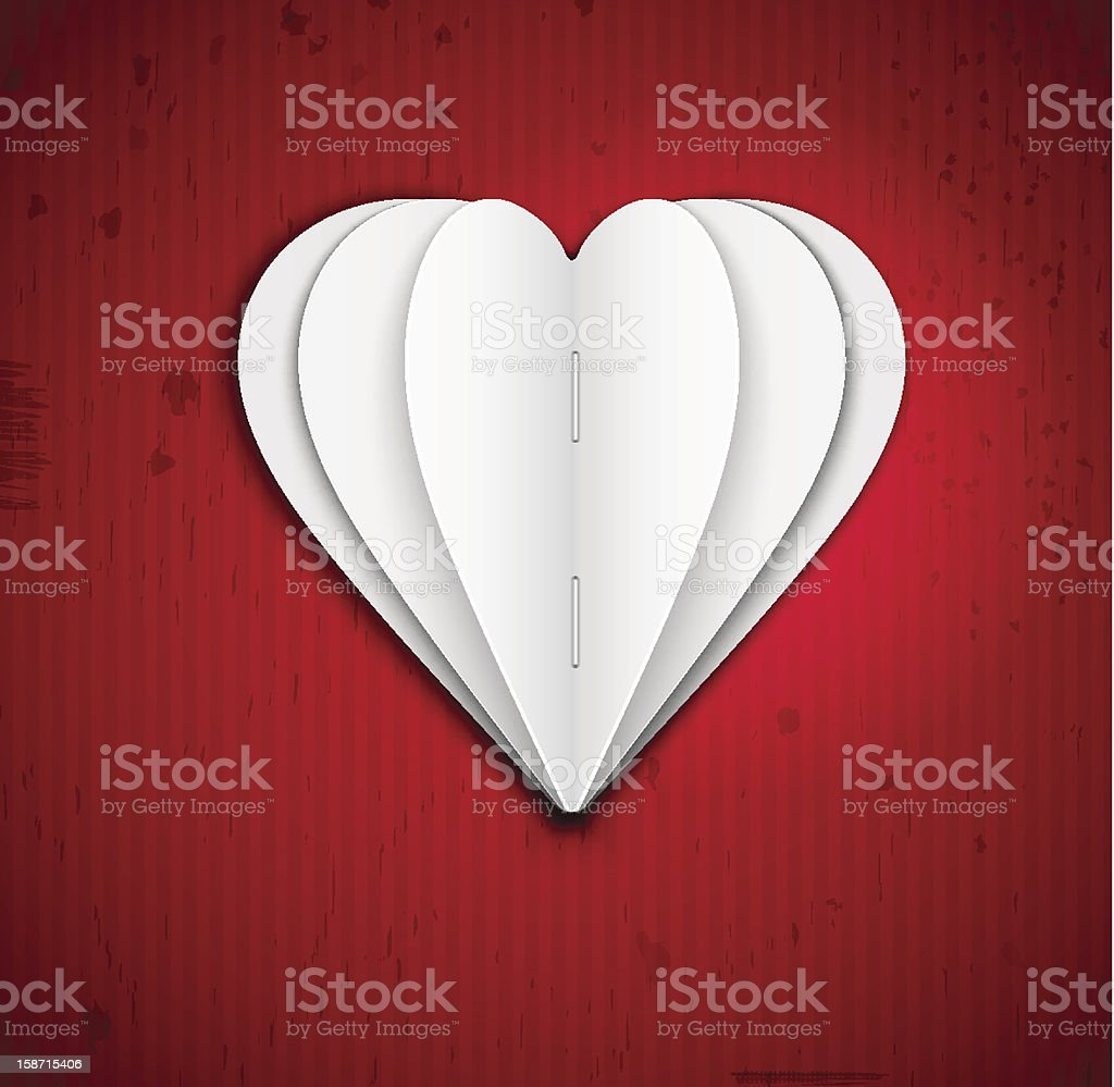 Heart of paper royalty-free stock vector art