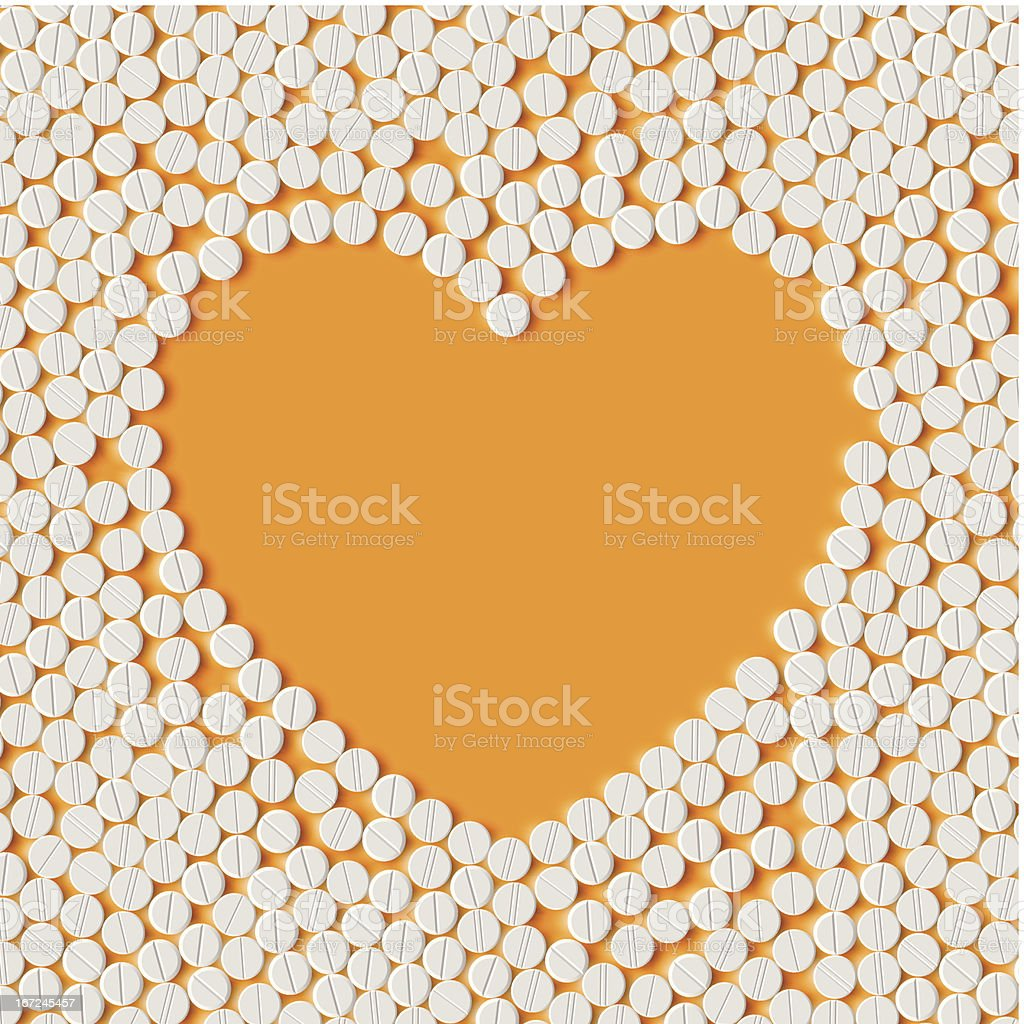 Heart of pills royalty-free stock vector art