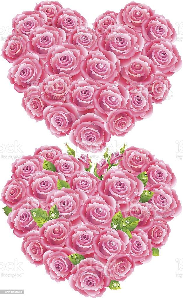 Heart of roses royalty-free stock vector art