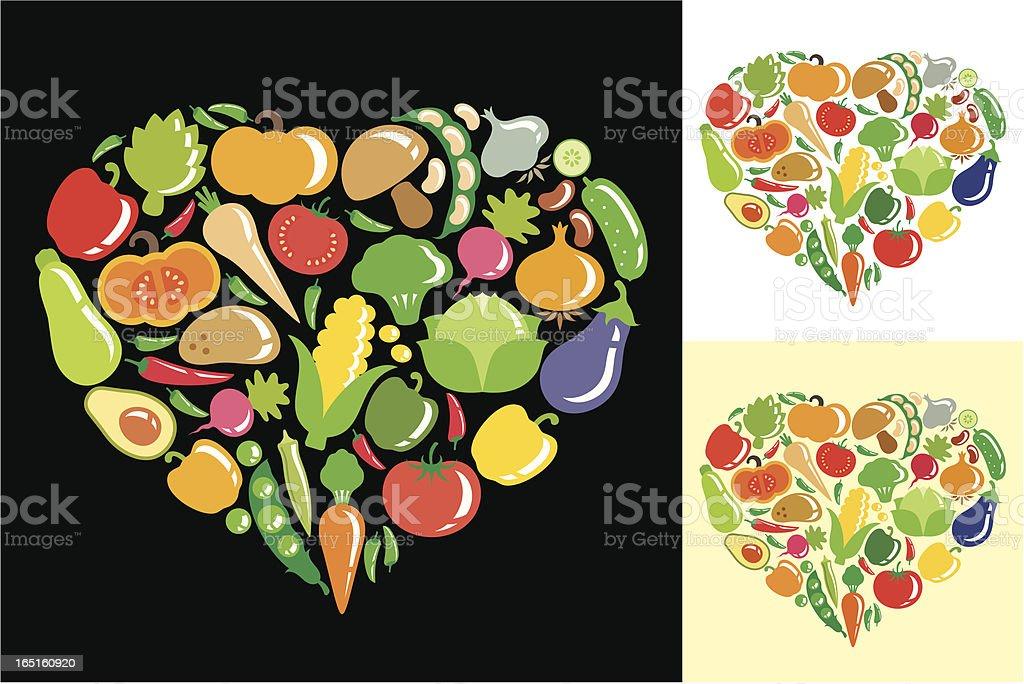 Heart of vegetables royalty-free stock vector art