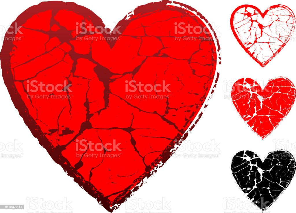 Heart on Industrial Grunge texture Backgrounds royalty-free stock vector art