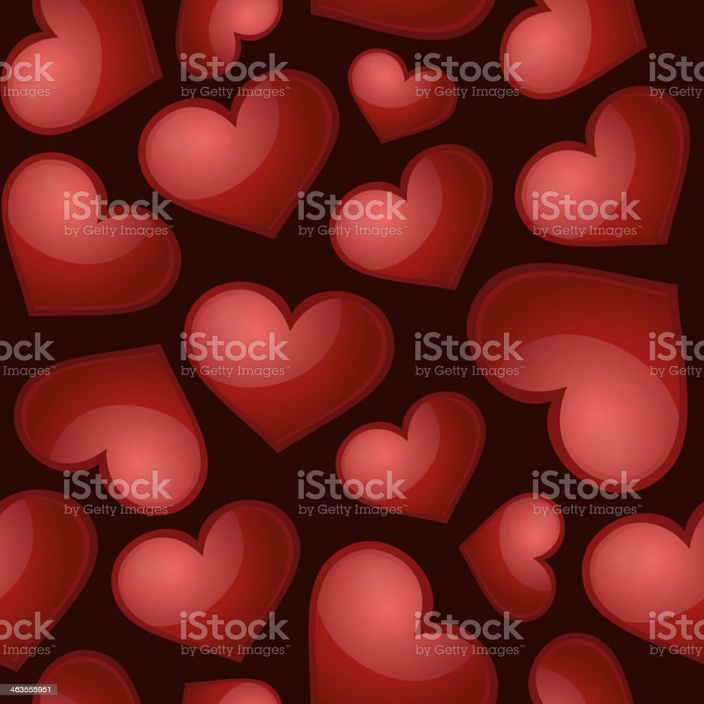 Heart pattern, vector seamless background. royalty-free stock vector art
