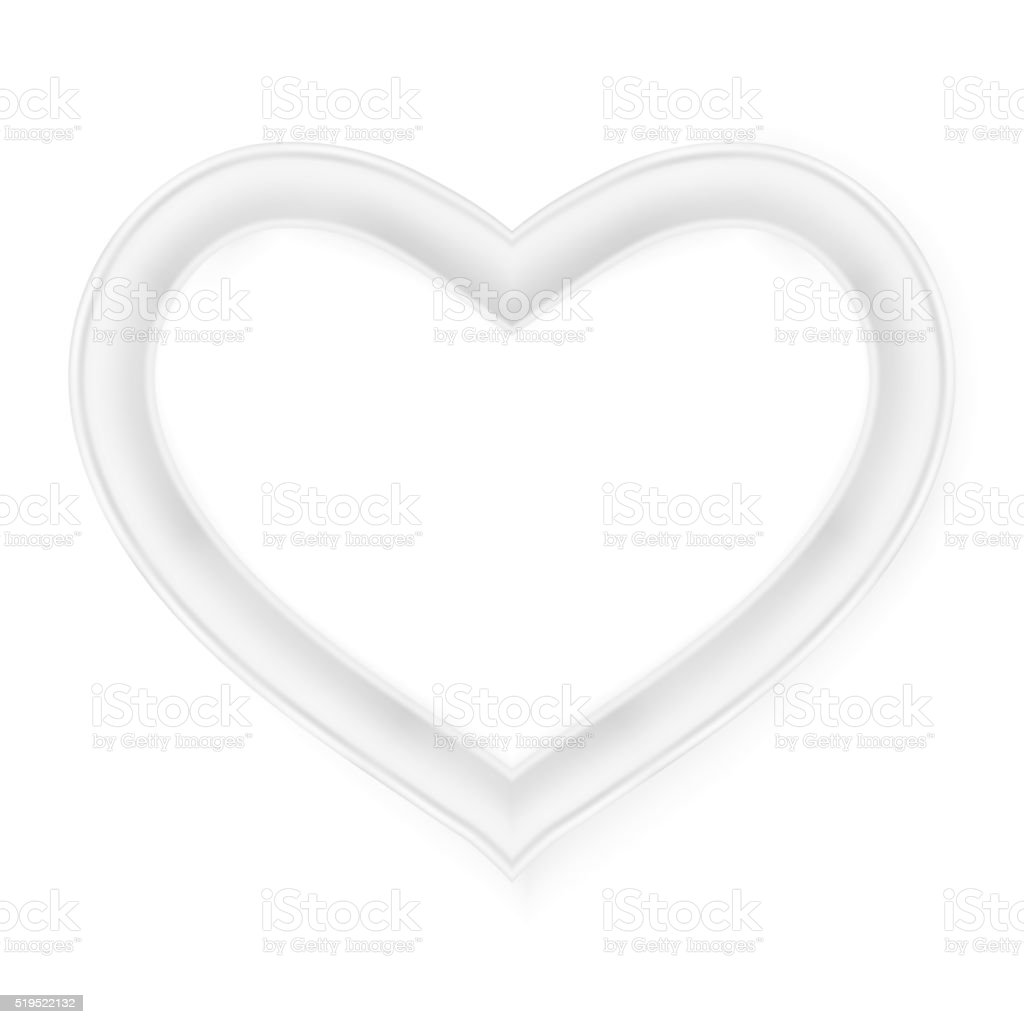 Heart picture frame isolated on white. EPS 10 vector art illustration