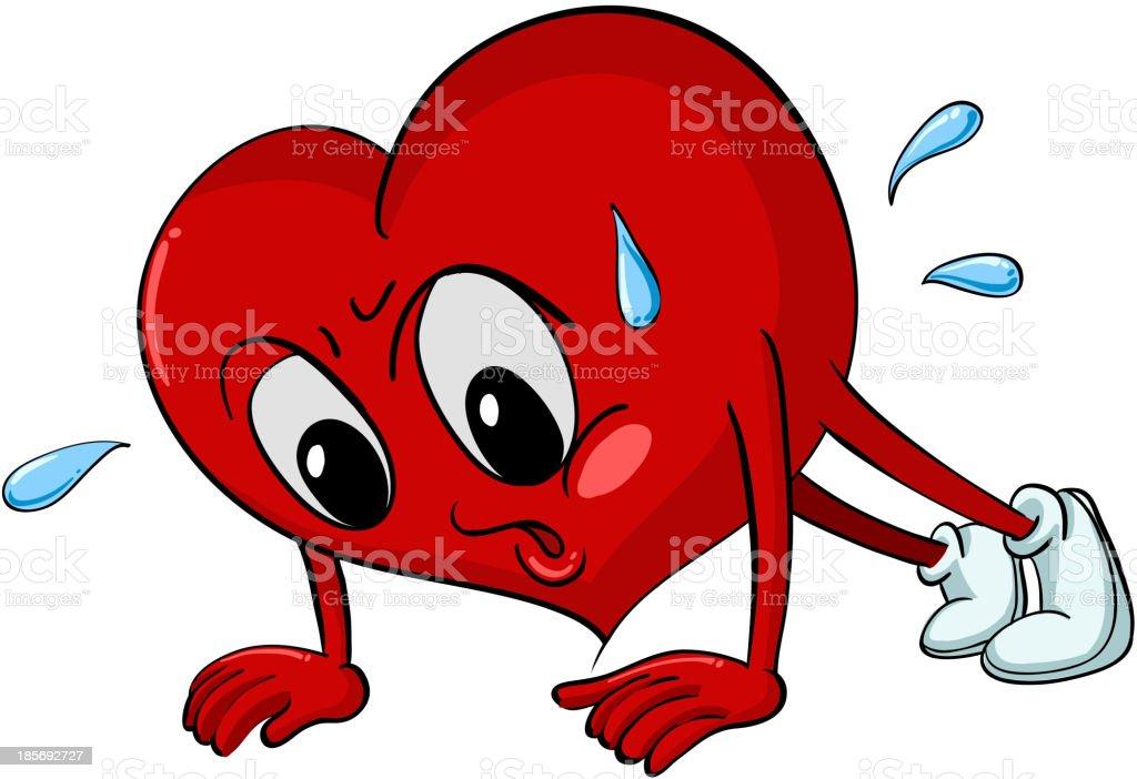 Heart pressups royalty-free stock vector art