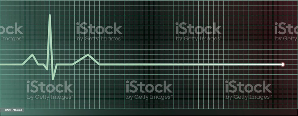 Heart pulse flatline vector art illustration