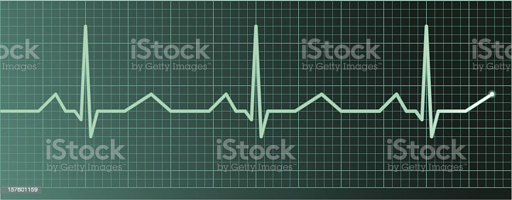 Heart pulse royalty-free stock vector art
