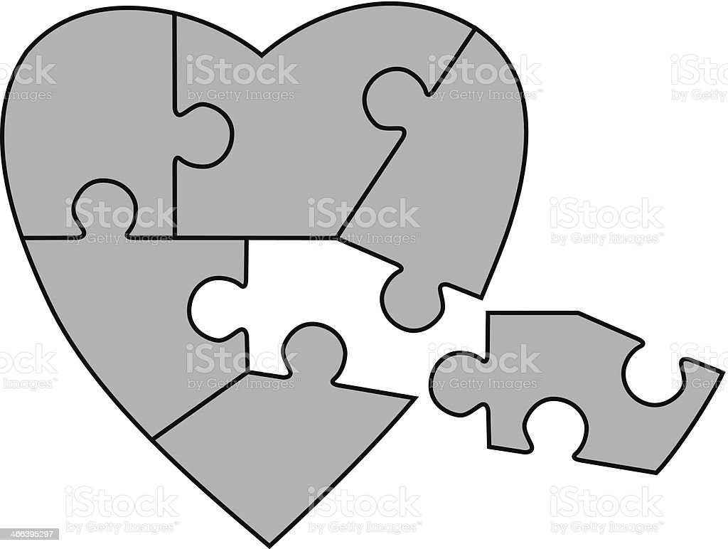 Heart Puzzle royalty-free stock vector art