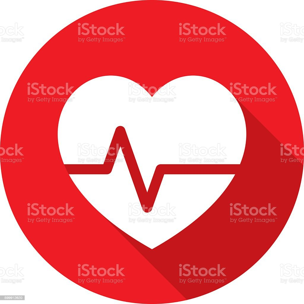Heart Rate Icon Silhouette vector art illustration