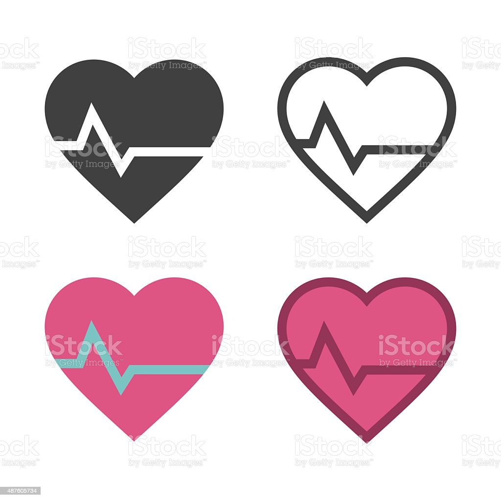 Heart Rate Icon vector art illustration