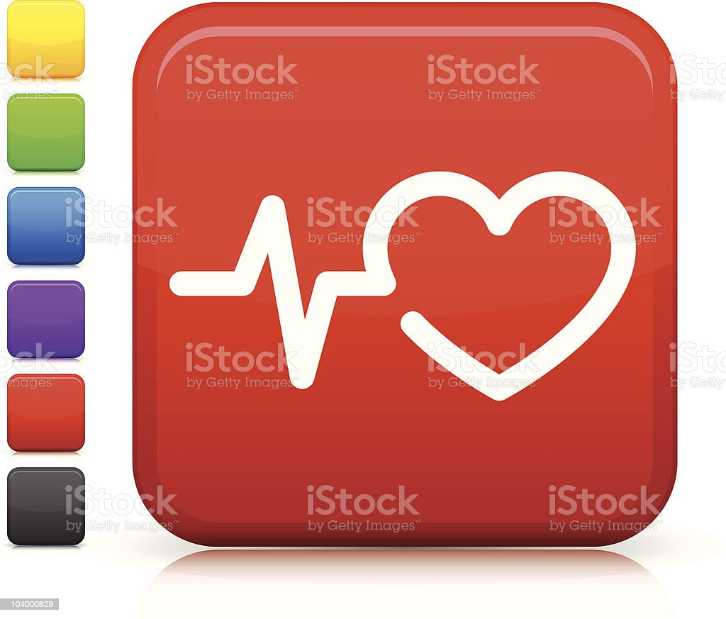 heart rate square internet button icon royalty-free stock vector art