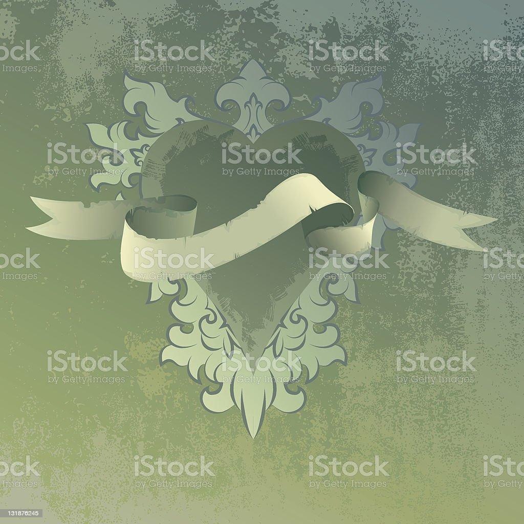 heart ribbon royalty-free stock vector art