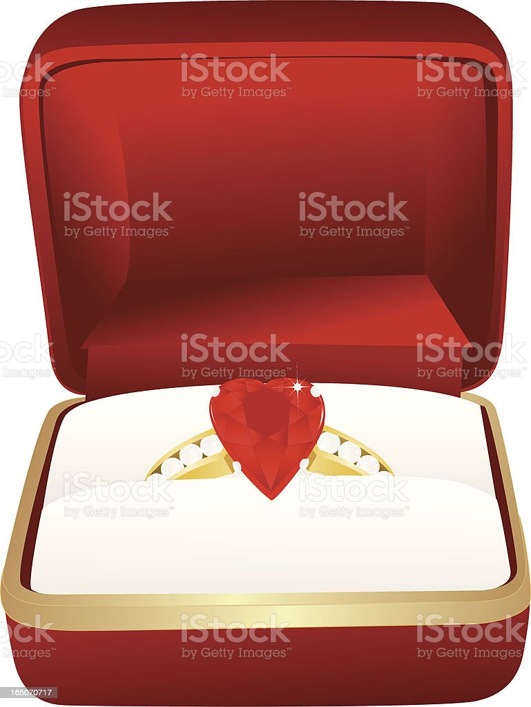 Heart Ring royalty-free stock vector art