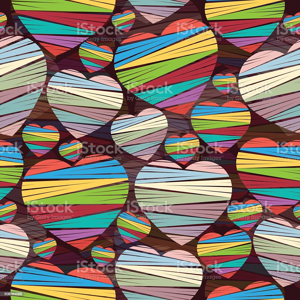 Heart seamless pattern, vector background royalty-free stock vector art