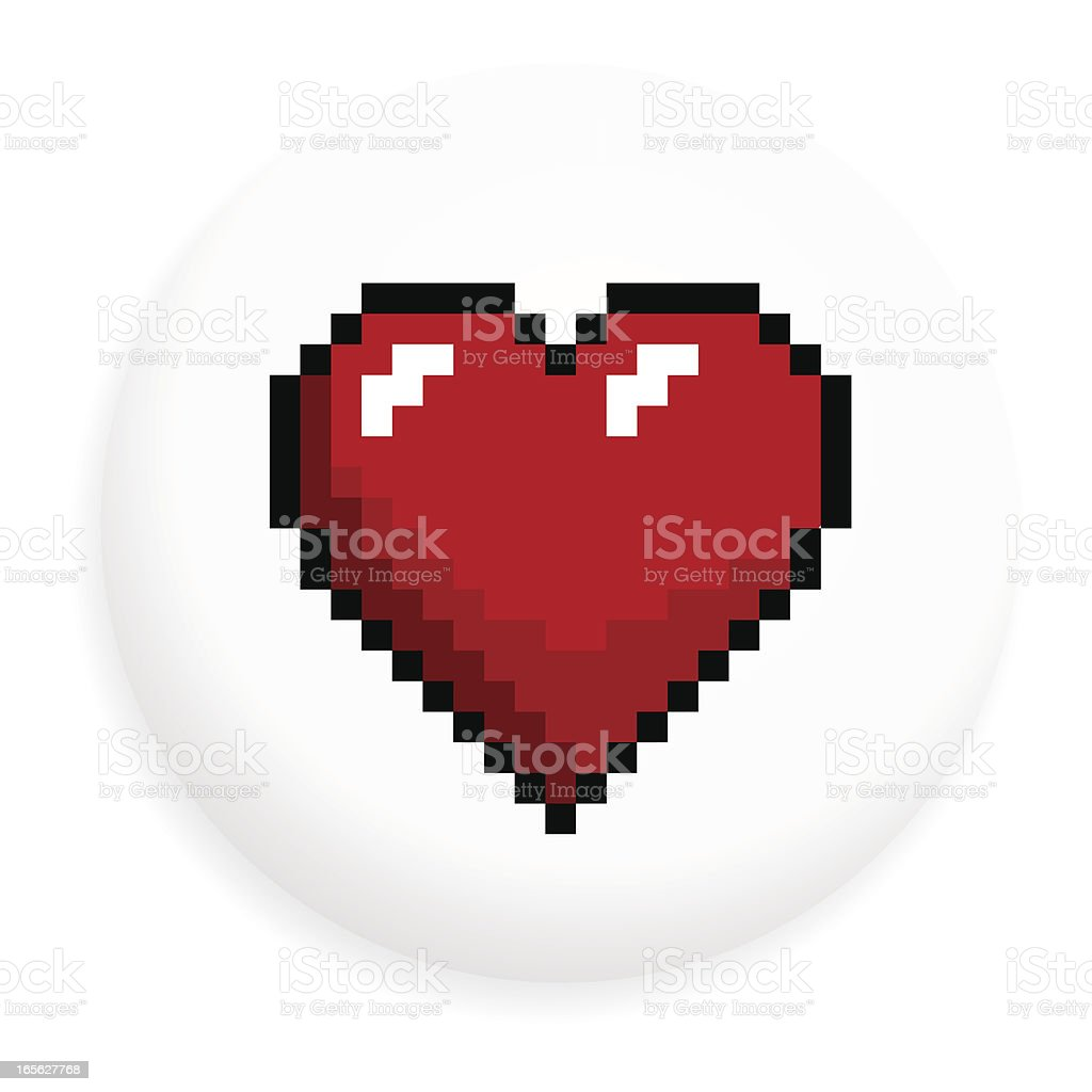 Heart shape badge vector art illustration
