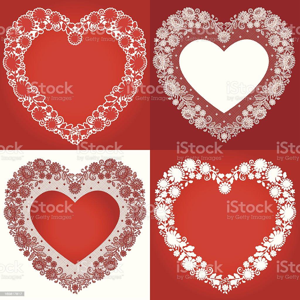 Heart Shape Clip art vector art illustration