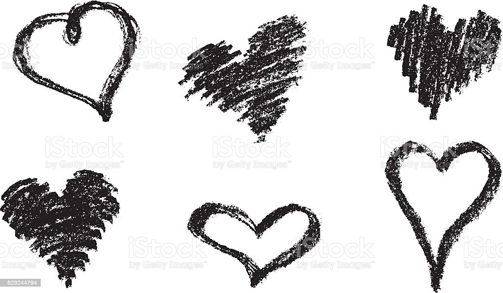 Heart Shape Doodle vector art illustration