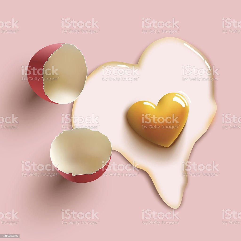 heart shape egg royalty-free stock vector art