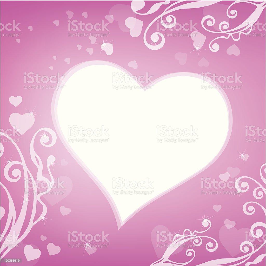 Heart shape frame royalty-free stock vector art
