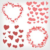 Heart shape icons and designs