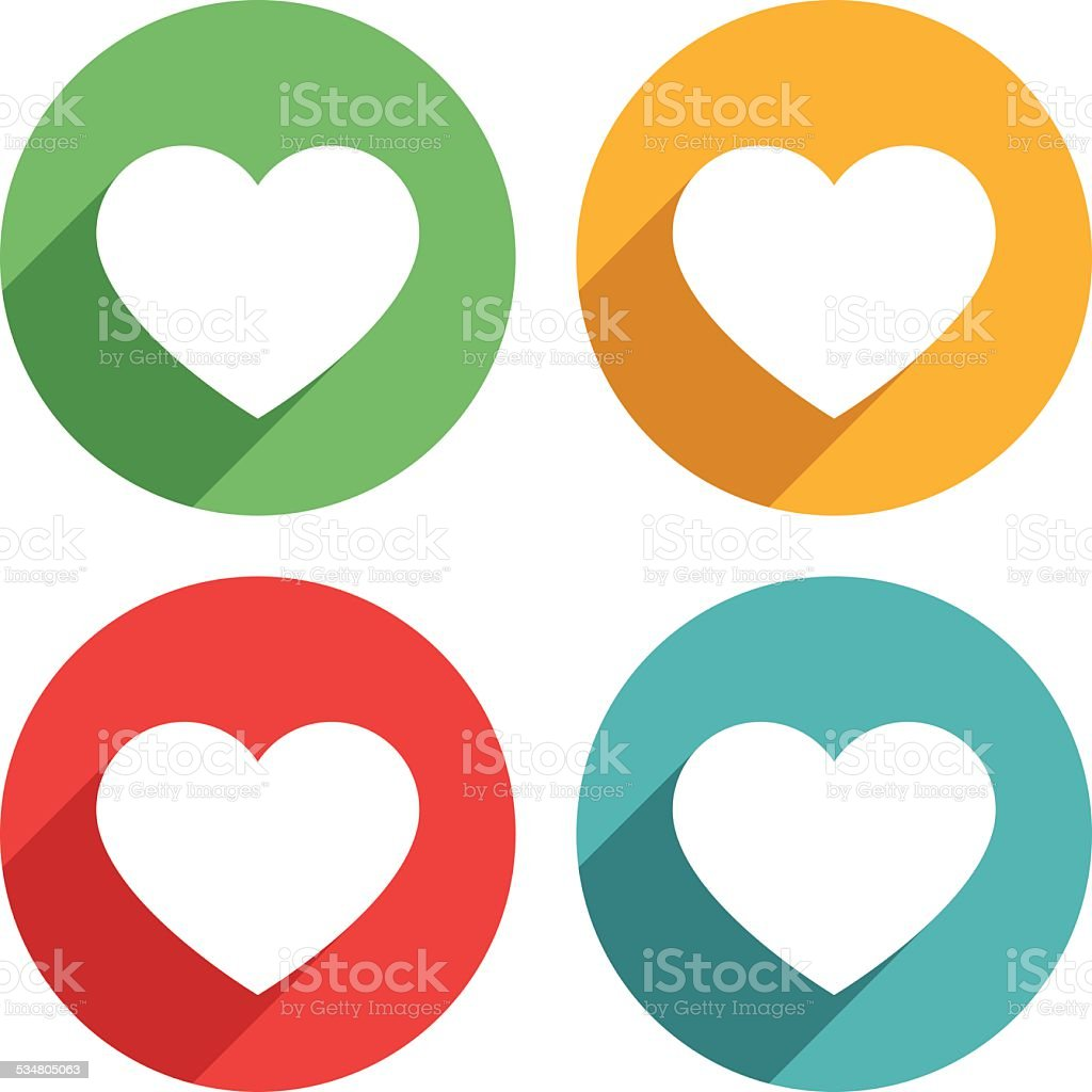 Heart shape icons - VECTOR vector art illustration