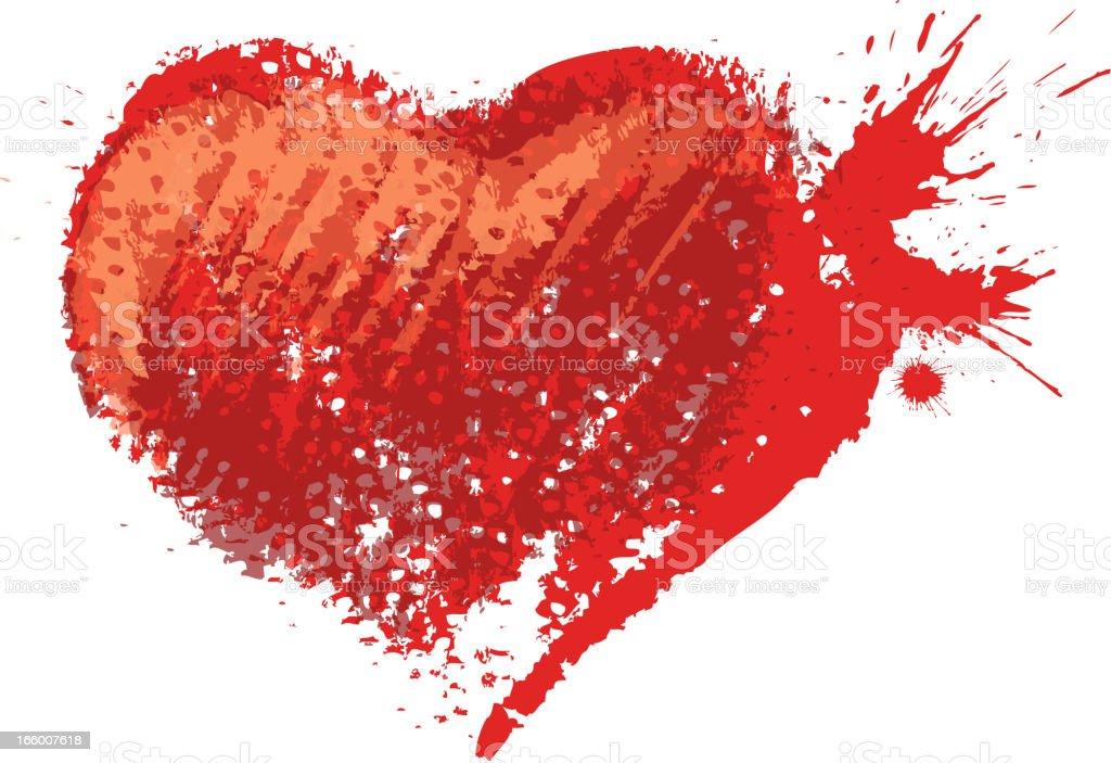 heart shape tracing royalty-free stock vector art