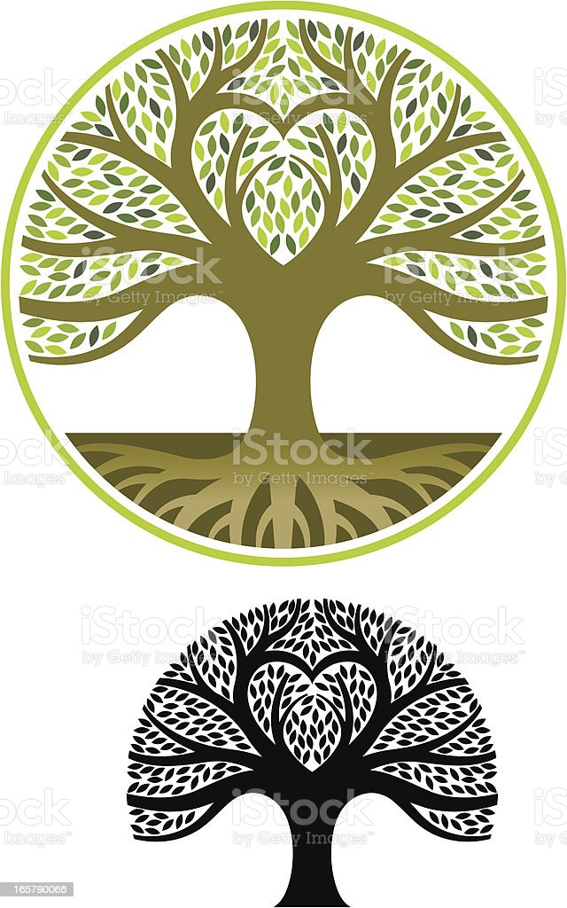 Heart shape tree royalty-free stock vector art
