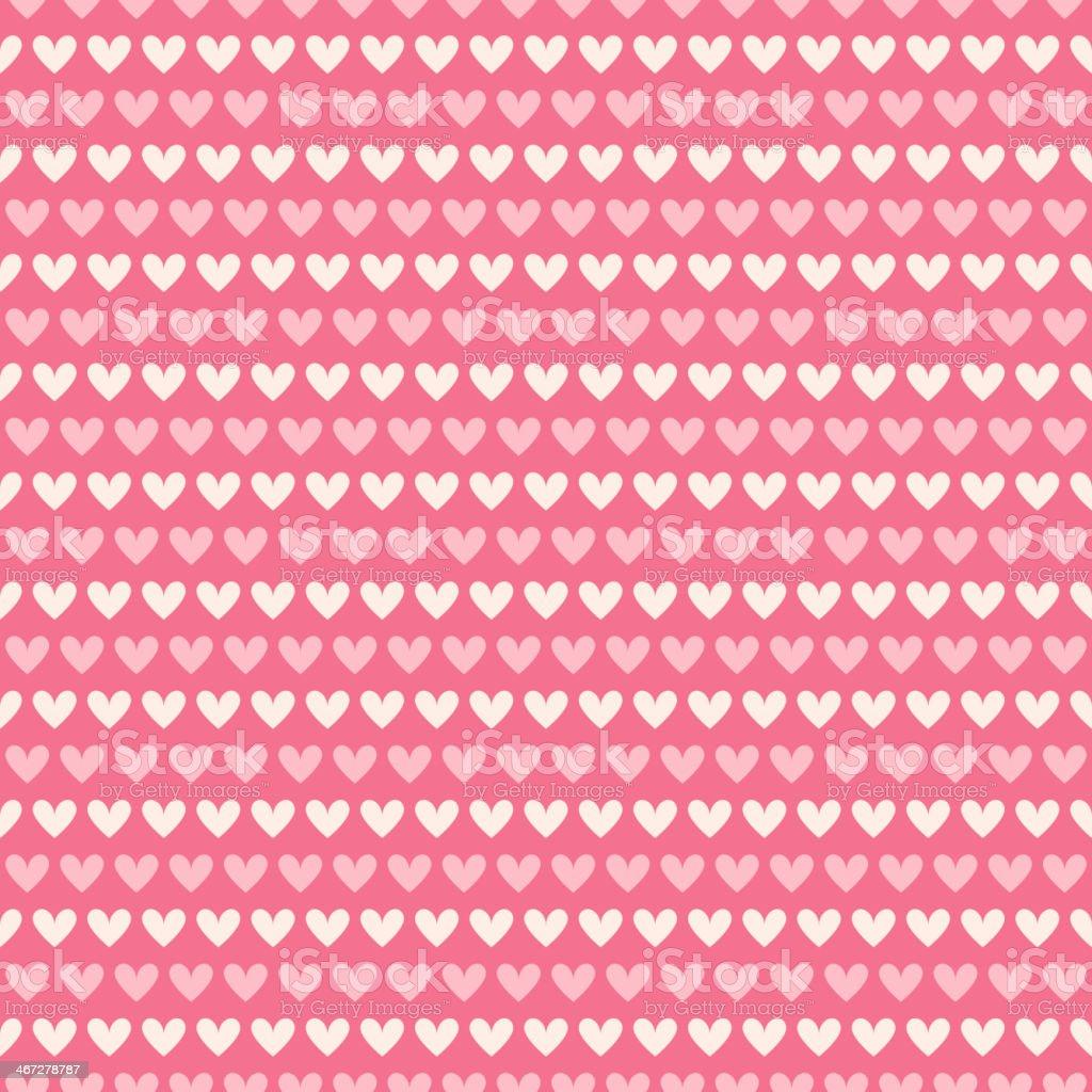 Heart shape vector seamless pattern (tiling) royalty-free stock vector art