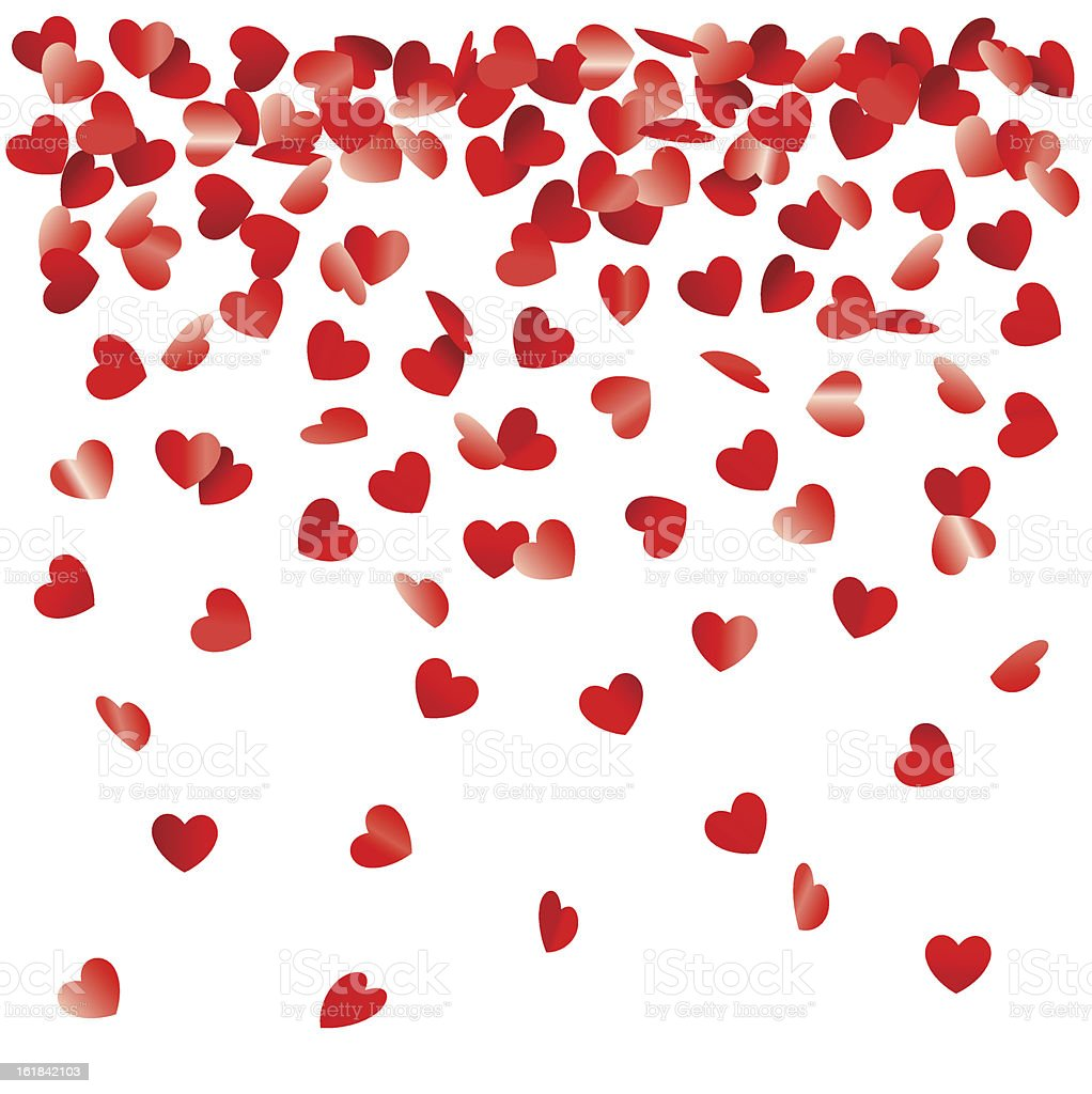 heart shaped confetti vector art illustration
