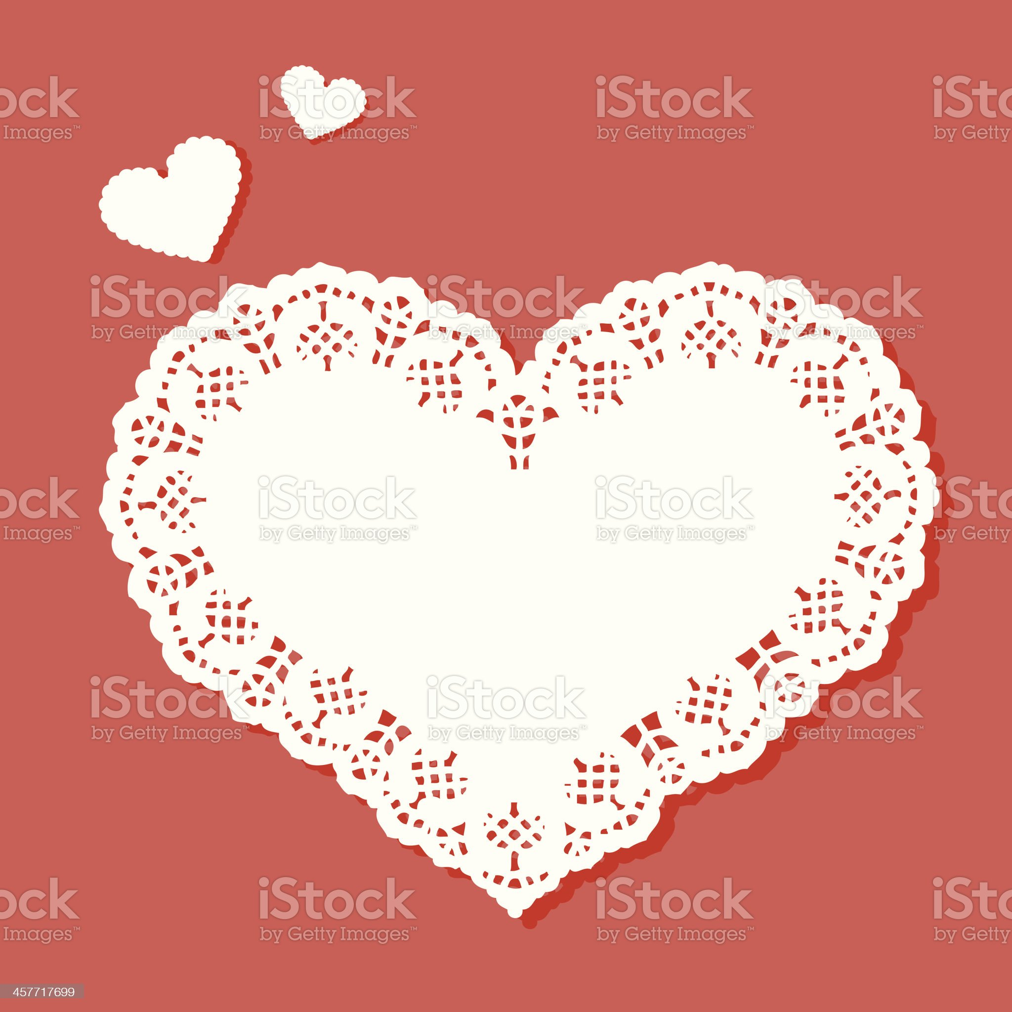 Heart shaped doily with a designer border royalty-free stock vector art
