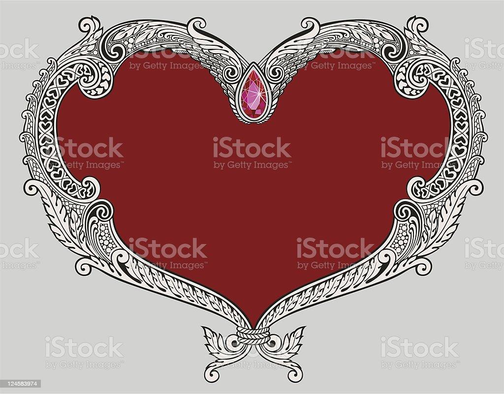Heart shaped Frame royalty-free stock vector art