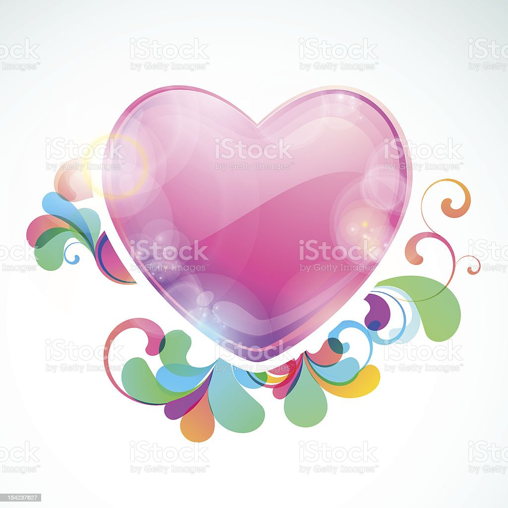 Heart shaped frame with space for message royalty-free stock vector art