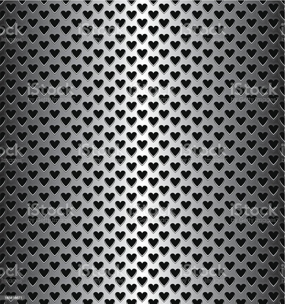 Heart Shaped Speaker Grille royalty-free stock vector art