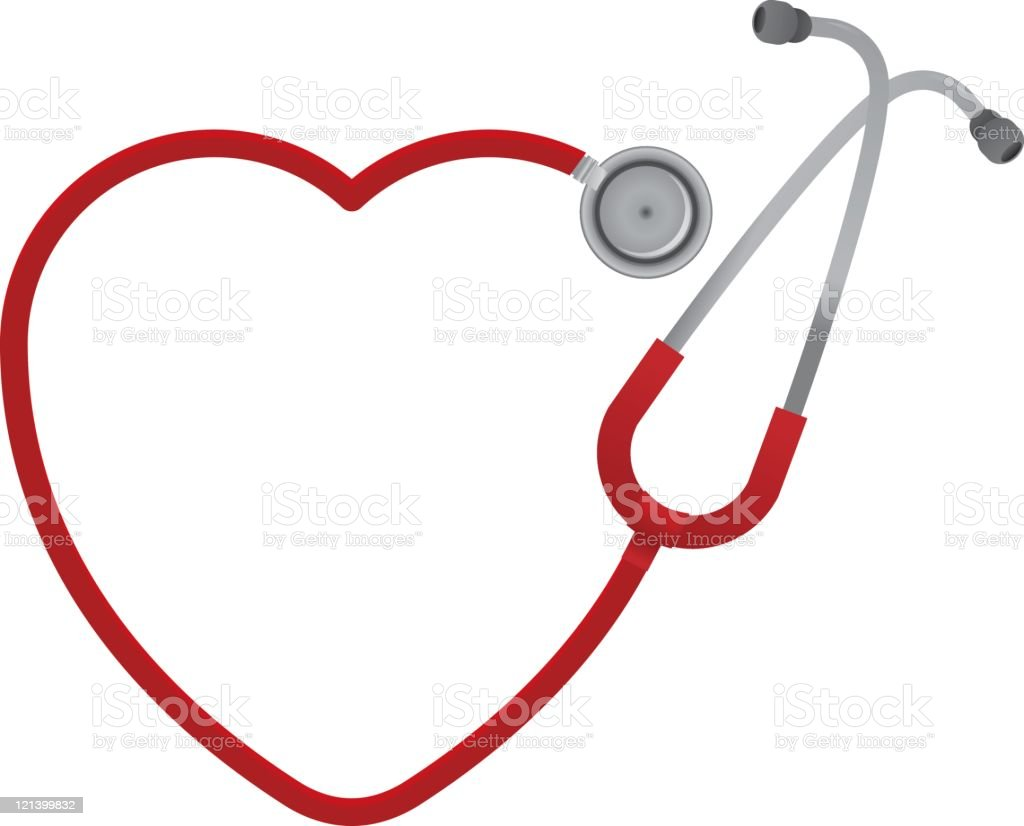 Heart Shaped Stethoscope royalty-free stock vector art