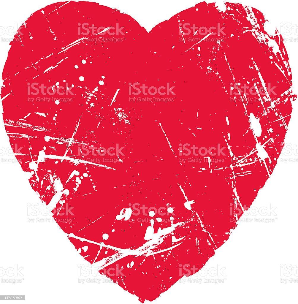 Heart Shaped Texture royalty-free stock vector art